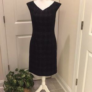 Mossimo black wool blend dress with silver threads